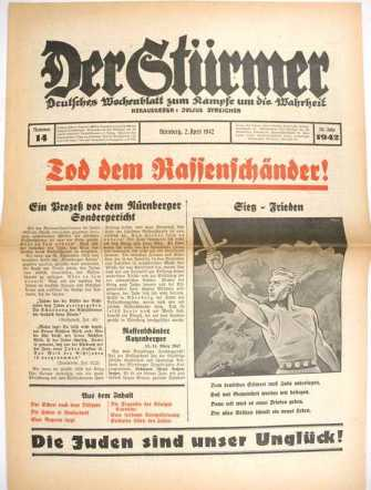 """""""עונש מוות ליהודים המקיימים יחסי מין עם נשים גרמניות"""""""