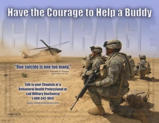כרזה למודעות ומניעת התאבדויות של הצבא האמריקאי