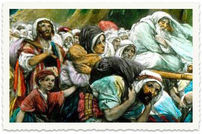 בני ישראל חוצים את ים סוף ביציאת מצרים