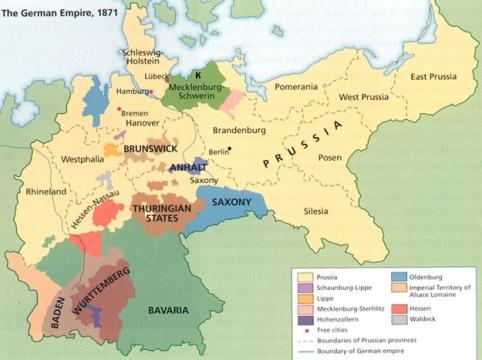 האמפריה הגרמנית ב-1871